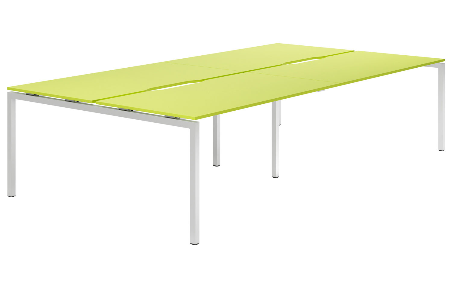 Campos H-Leg 4 Person Back To Back Bench Desk (Green)
