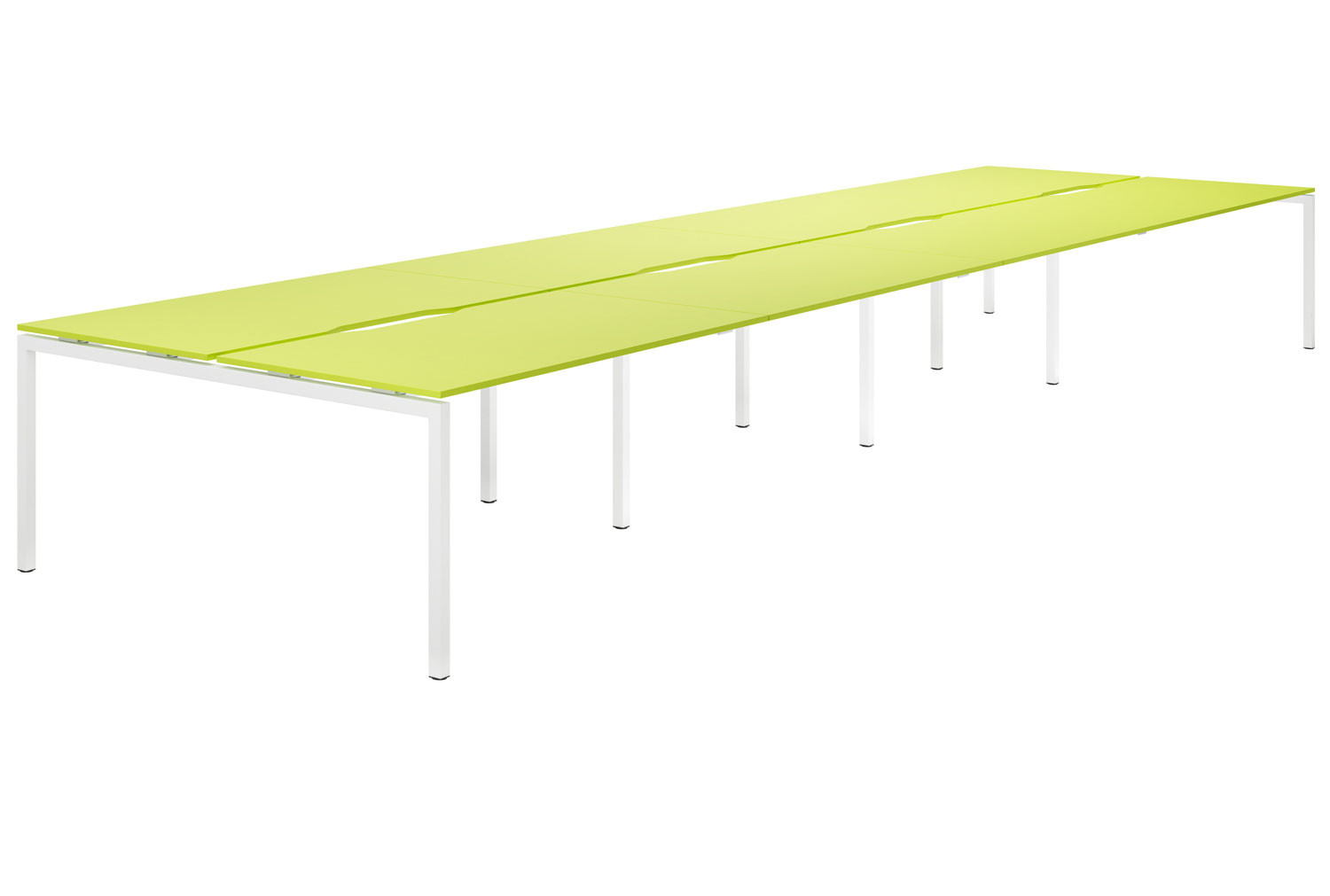Campos H-Leg 8 Person Back To Back Bench Desk (Green)