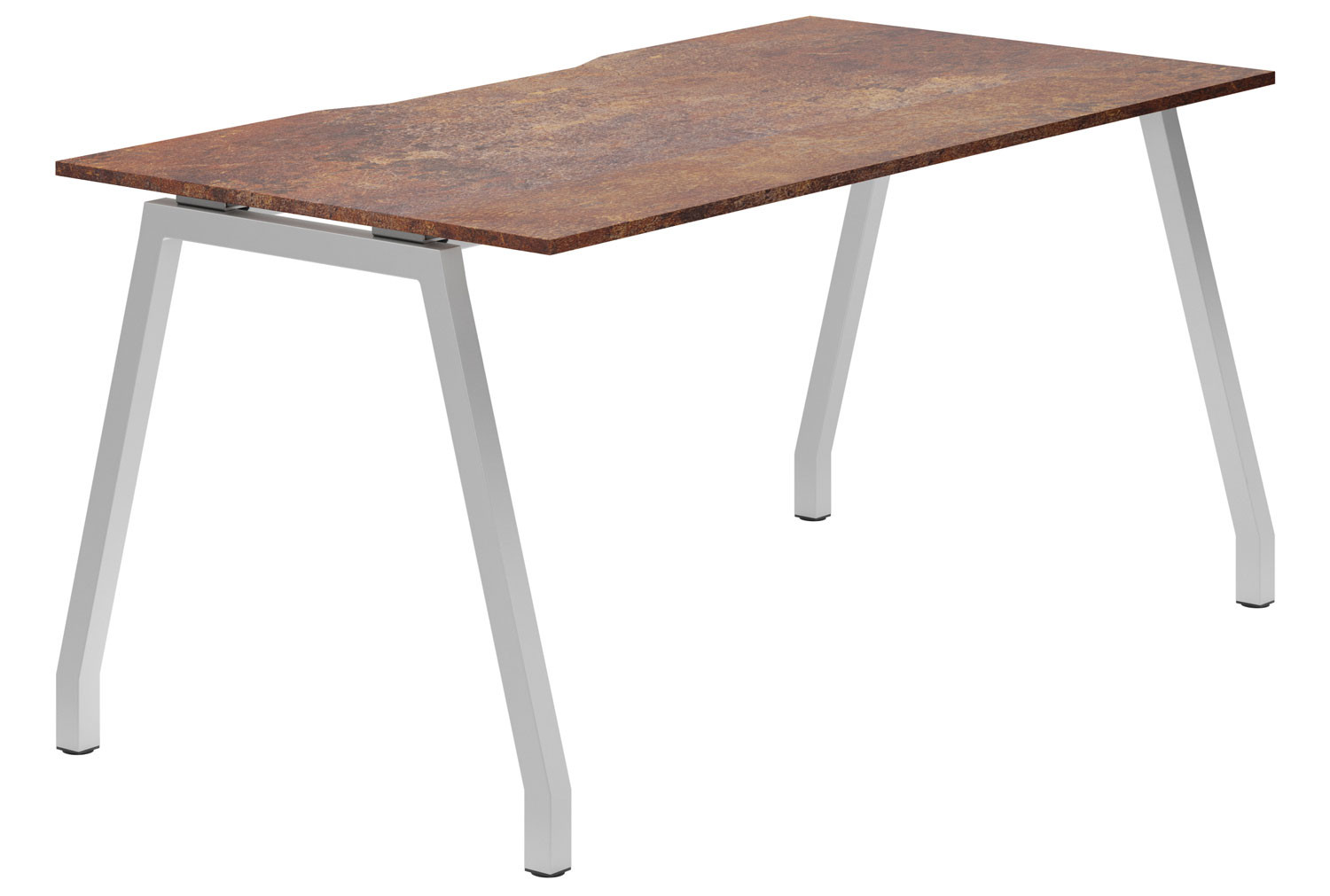 Lasso A-Frame Single Bench Desk (Rusted Steel)