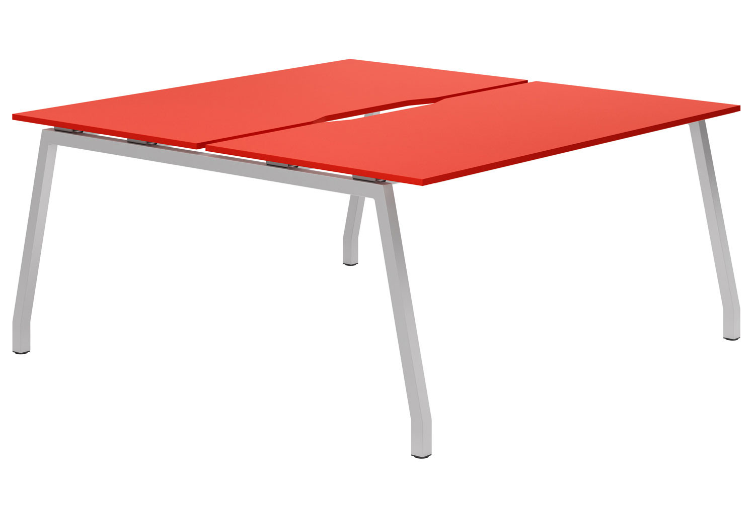 Campos A-Frame 2 Person Back To Back Bench Desk (Red)