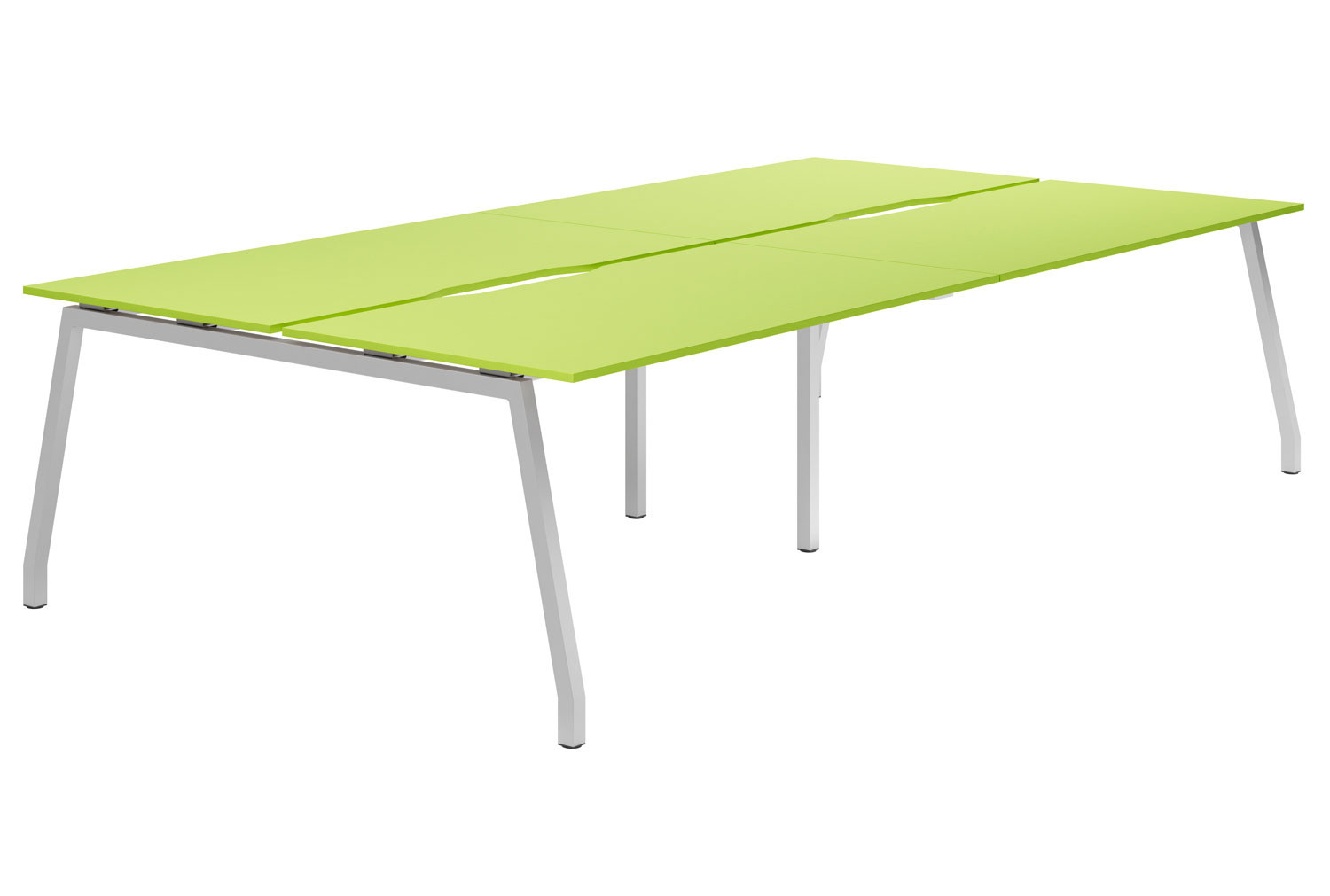 Campos A-Frame 4 Person Back To Back Bench Desk (Green)