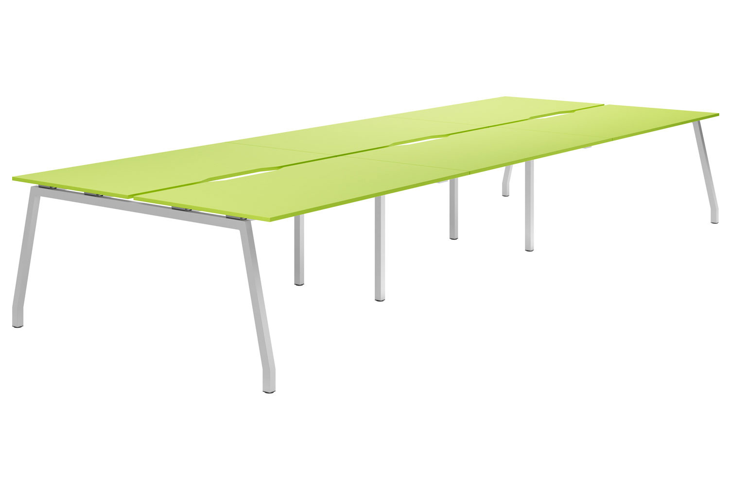 Campos A-Frame 6 Person Back To Back Bench Desk (Green)