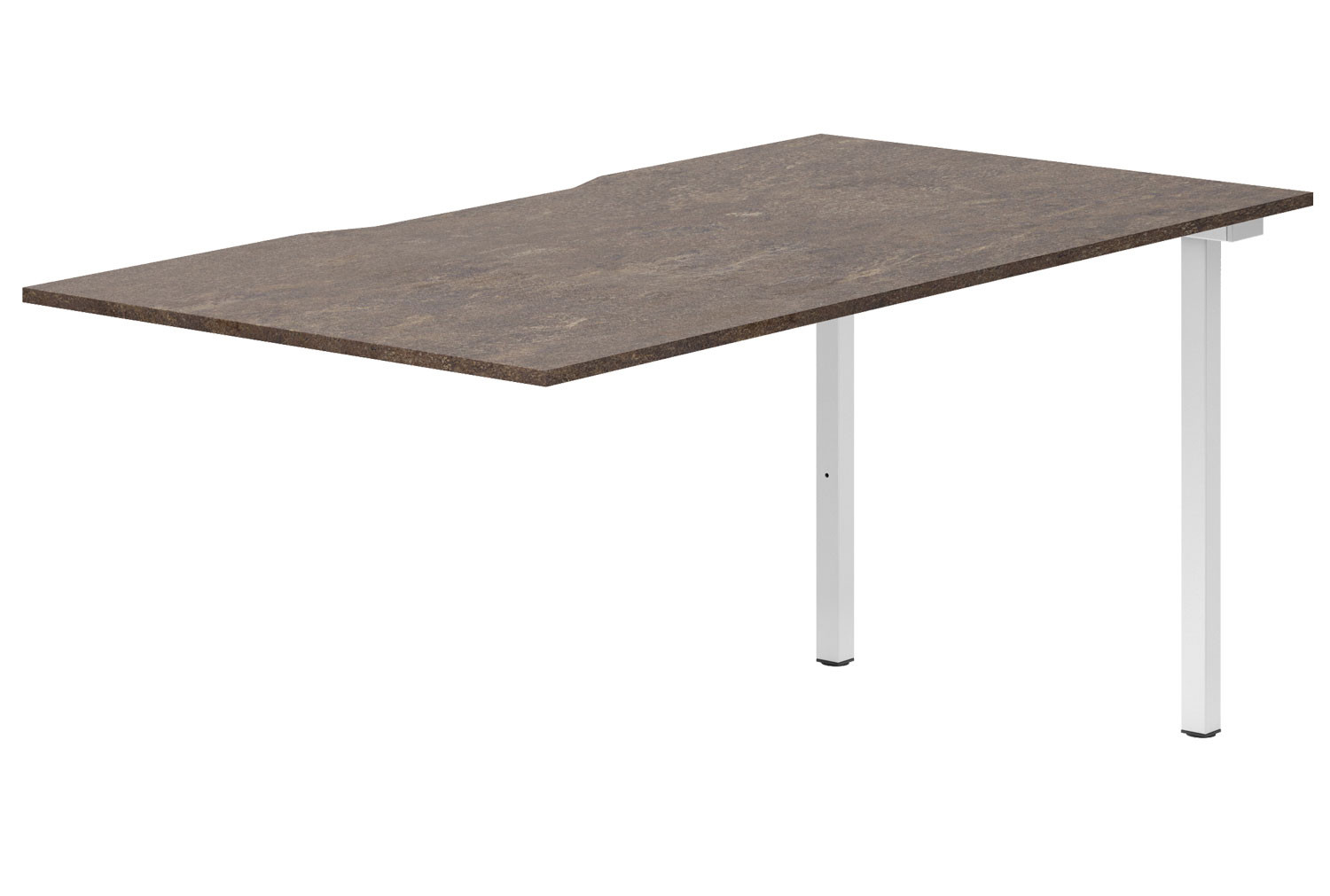 Lasso Single Add-On Bench Desk (Pitted Steel)
