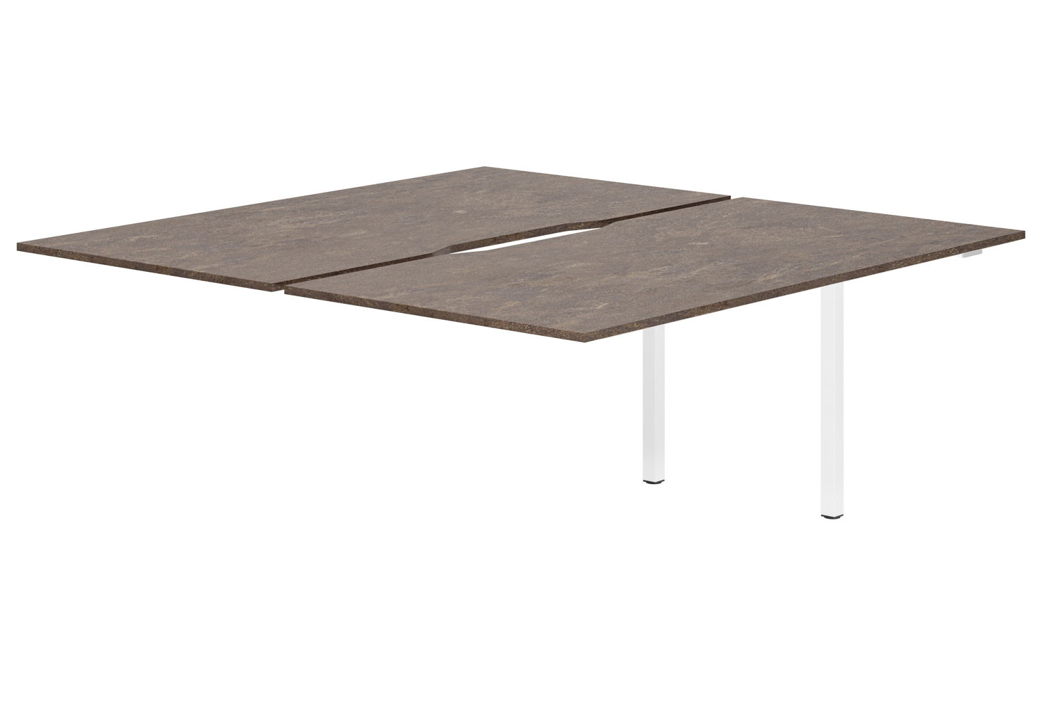 Lasso Back To Back Add On Bench Desk (Pitted Steel)