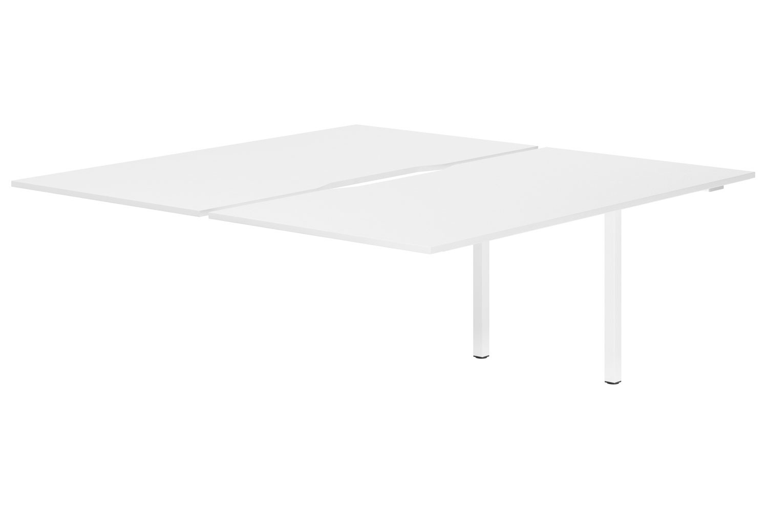 Campos Back To Back Add On Bench Desk (White)