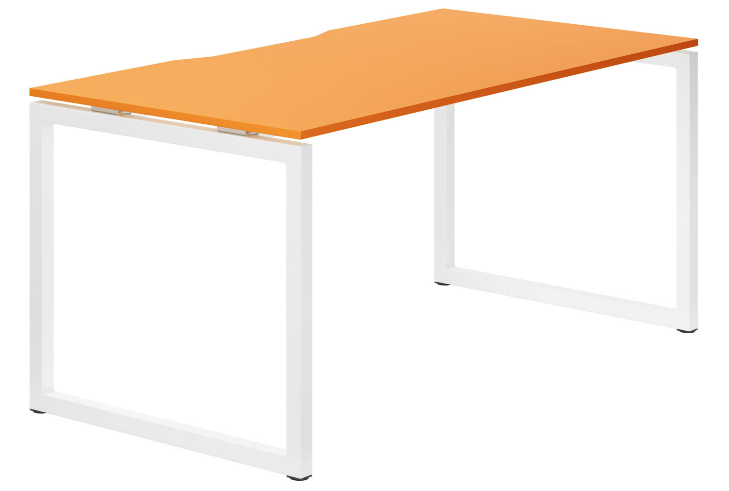 Campos Hooped Leg Single Bench Desk (Orange)