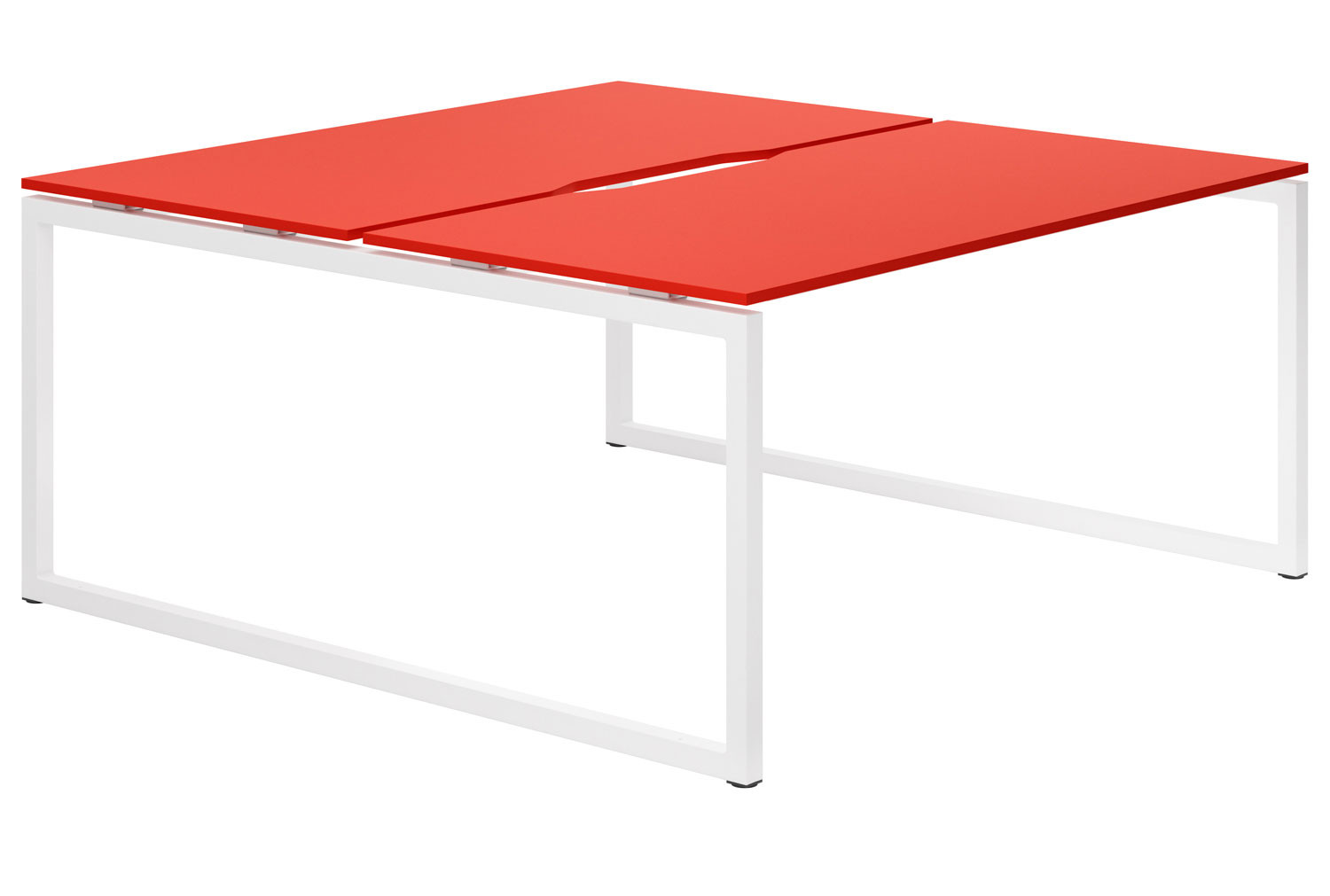 Campos Hooped Leg 2 Person Back To Back Bench Desk (Red)
