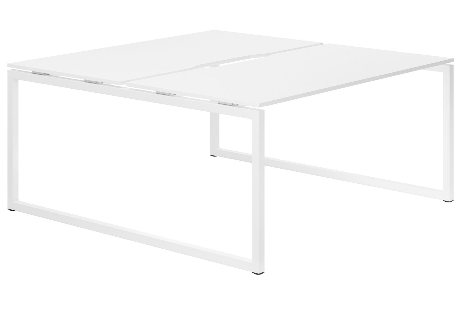 Campos Hooped Leg 2 Person Back To Back Bench Desk (White)