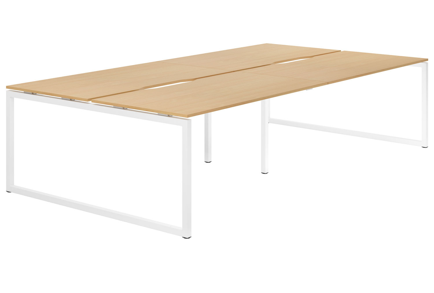 Lozano Hooped Leg Back To Back 4 Person Bench Desk (Beech)