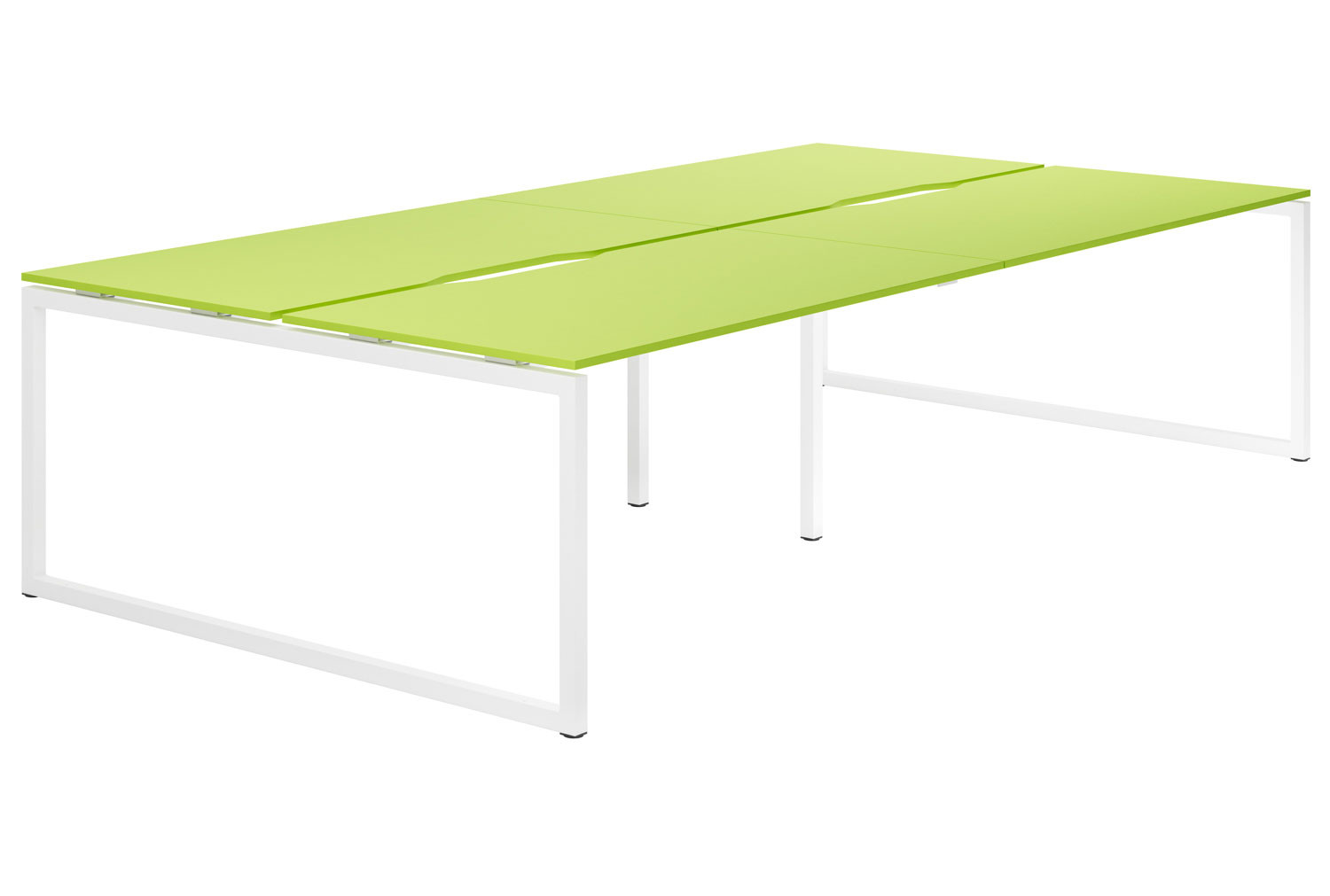 Campos Hooped Leg 4 Person Back To Back Bench Desk (Green)