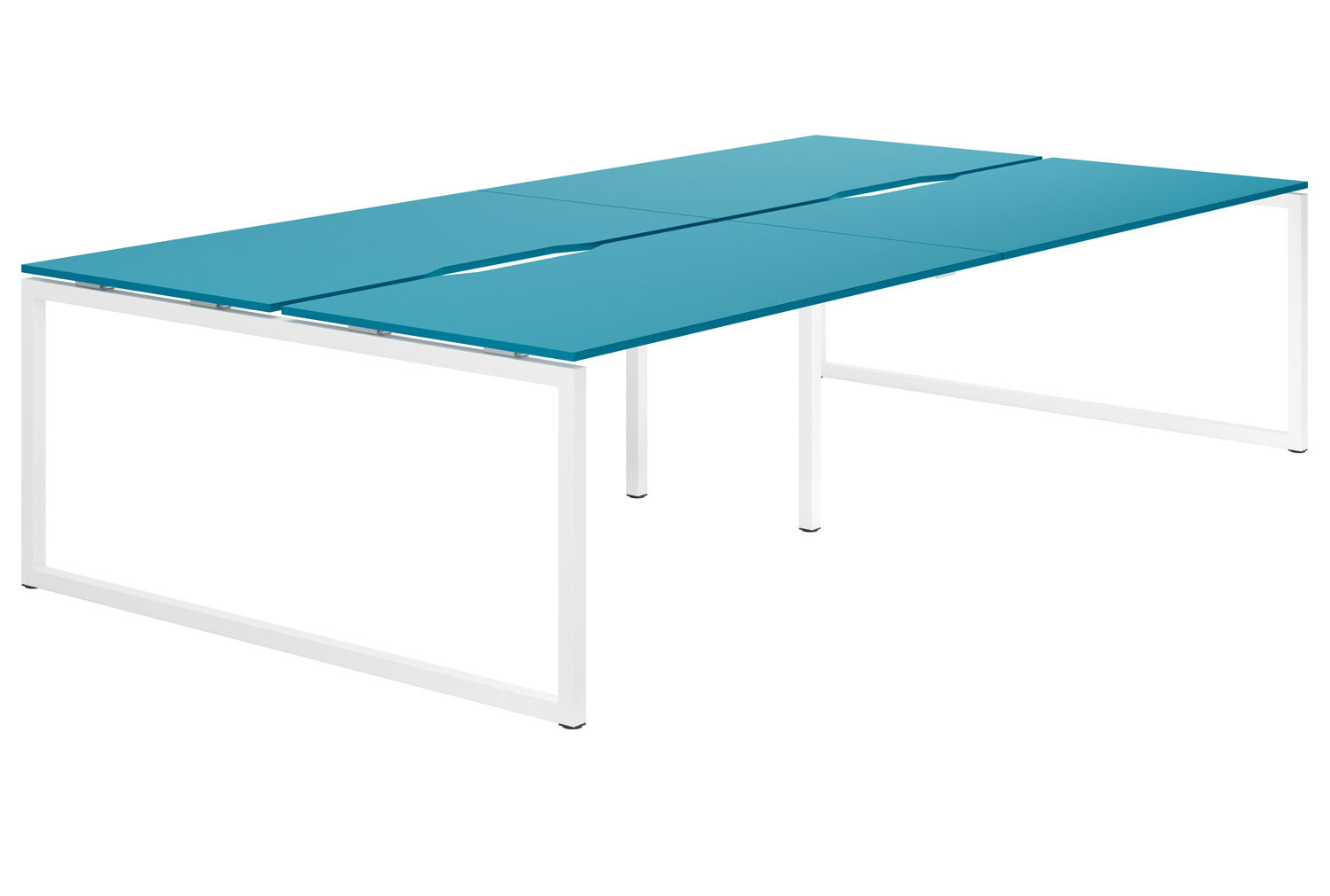 Campos Hooped Leg 4 Person Back To Back Bench Desk (Light Blue)