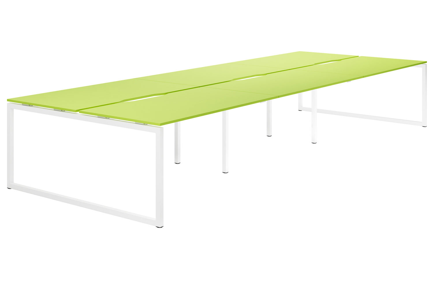 Campos Hooped Leg 6 Person Back To Back Bench Desk (Green)