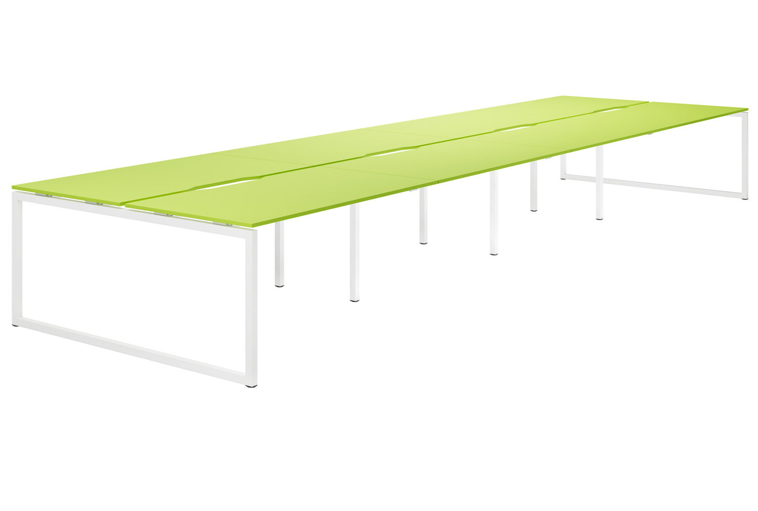 Campos Hooped Leg 8 Person Back To Back Bench Desk (Green)