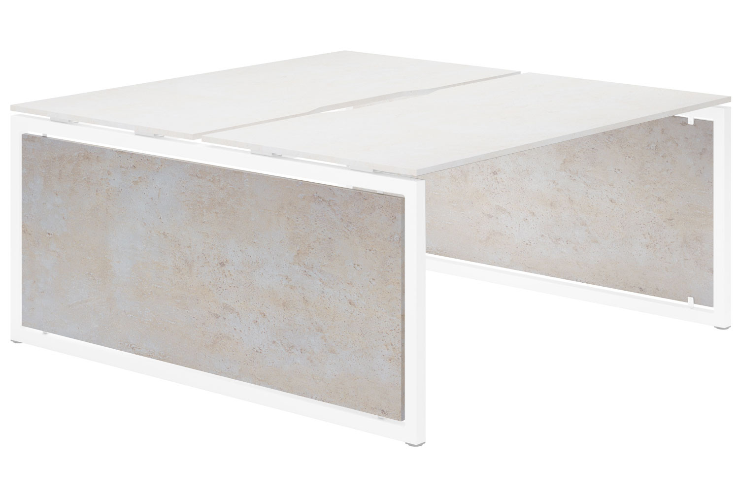Lasso Infill For Hooped Leg Back To Back Bench Desk (Concrete)