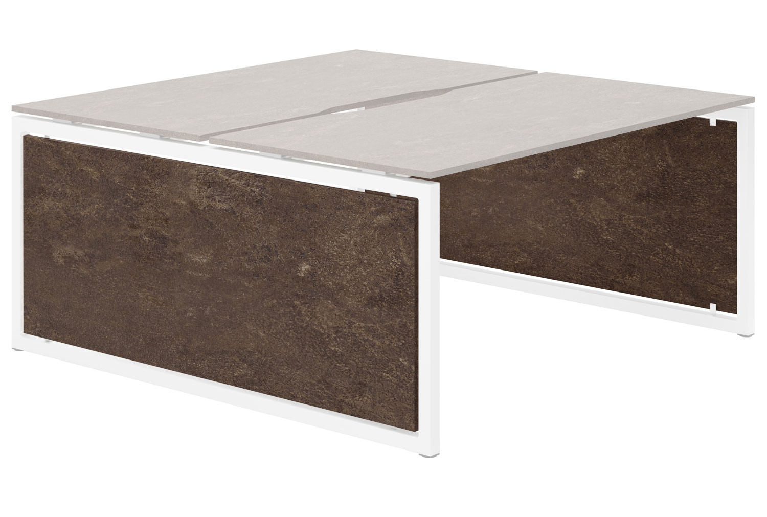 Lasso Infill For Hooped Leg Back To Back Bench Desk (Pitted Steel)