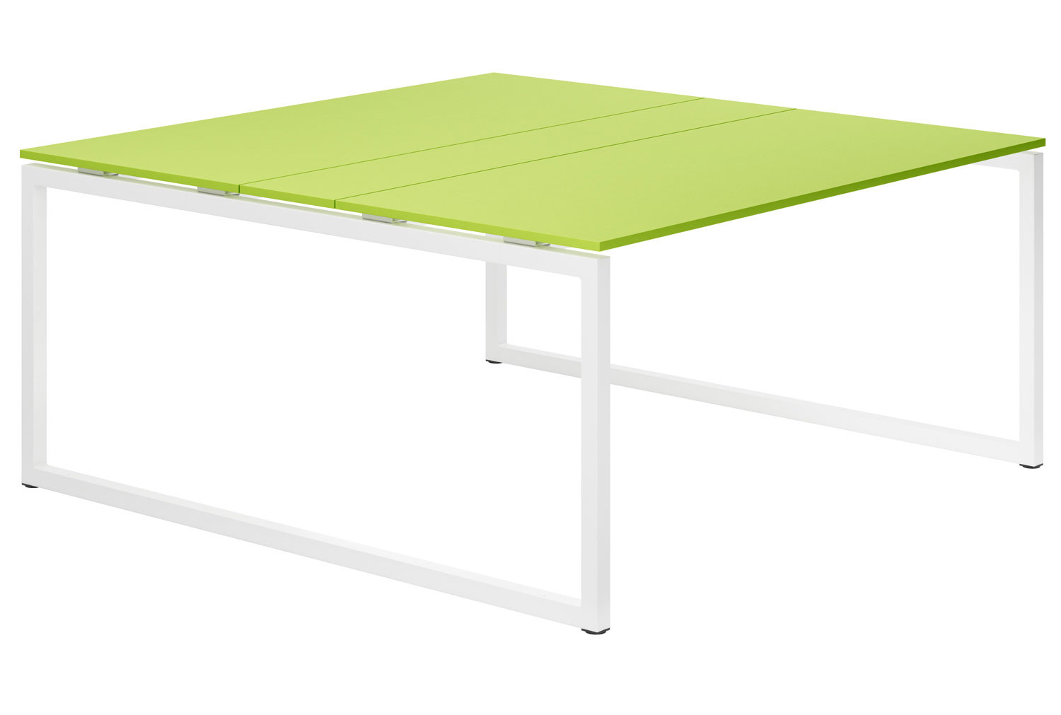 Campos Hooped Leg 6-8 Person Meeting Table (Green)