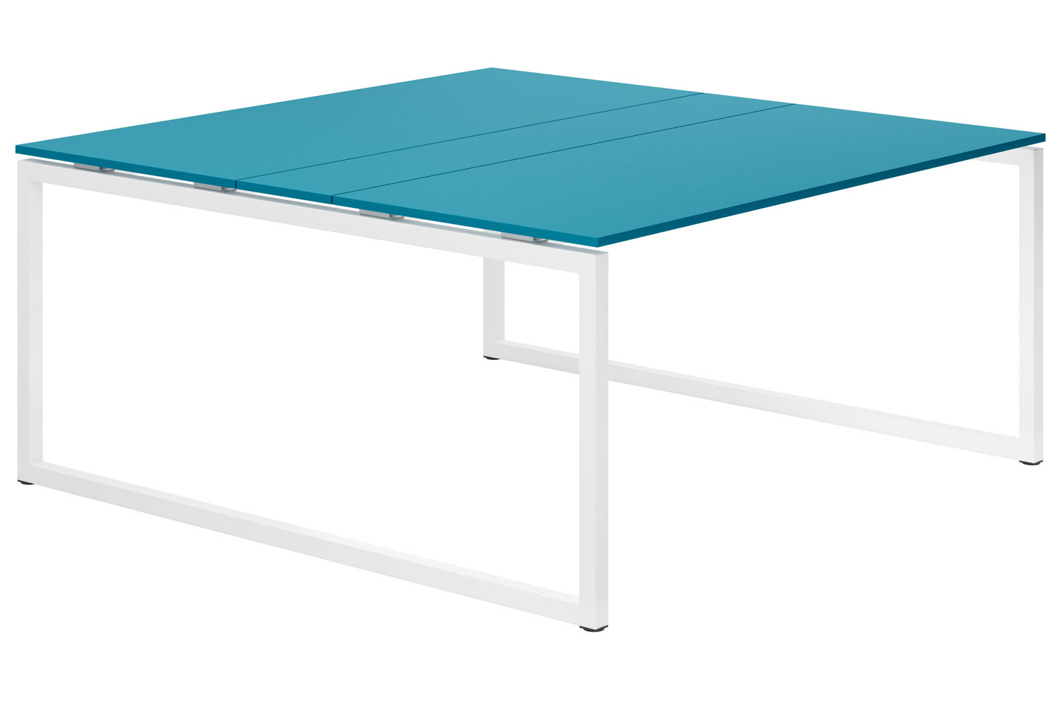 Campos Hooped Leg 6-8 Person Meeting Table (Light Blue)