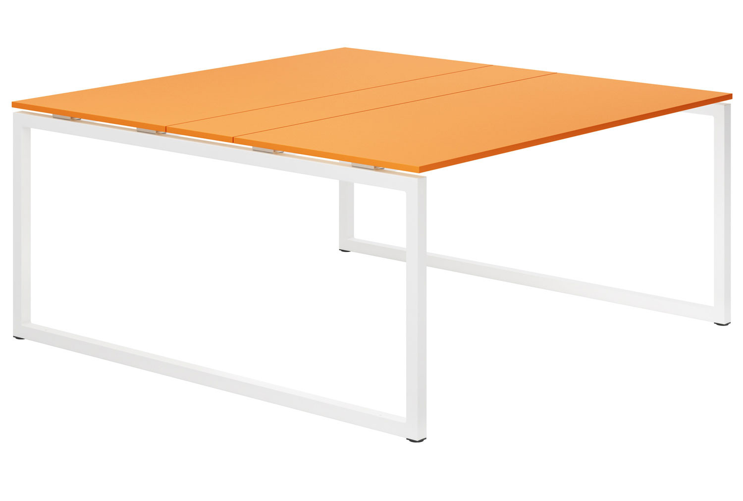 Campos Hooped Leg 6-8 Person Meeting Table (Orange)