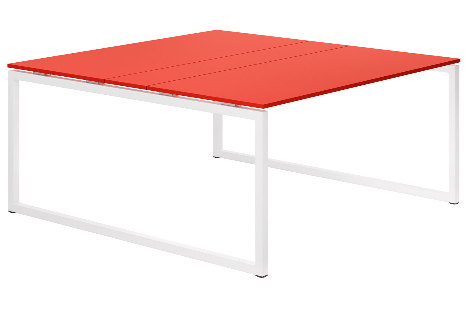 Campos Hooped Leg 6-8 Person Meeting Table (Red)
