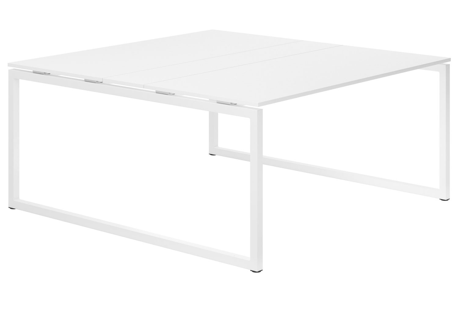 Campos Hooped Leg 6-8 Person Meeting Table (White)