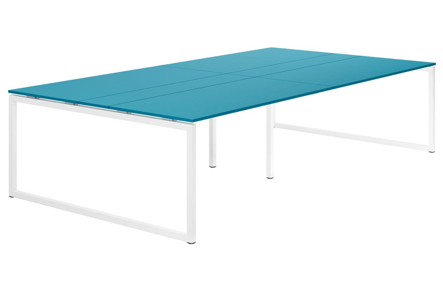 Campos Hooped Leg 10-12 Person Meeting Table (Light Blue)