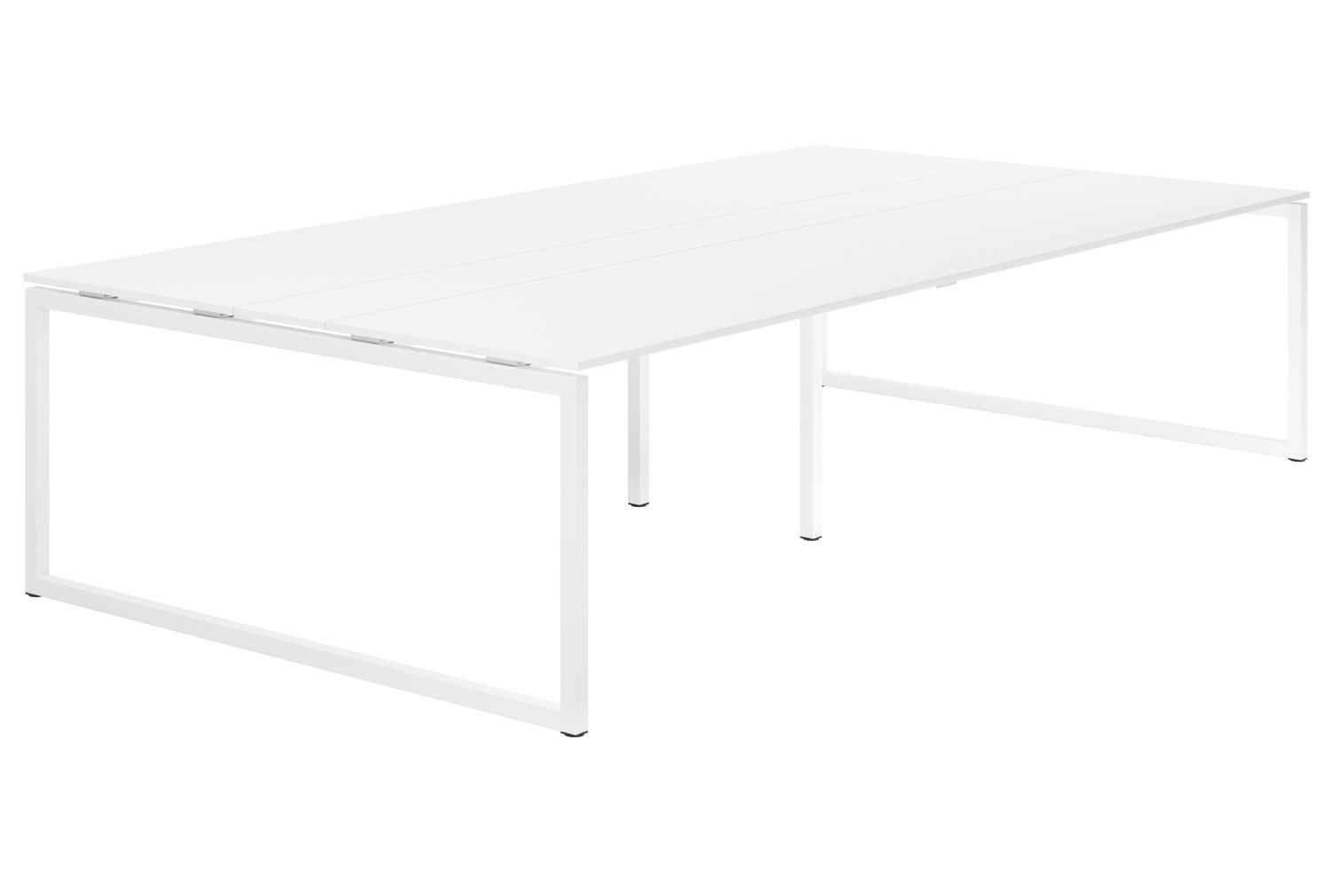 Campos Hooped Leg 10-12 Person Meeting Table (White)