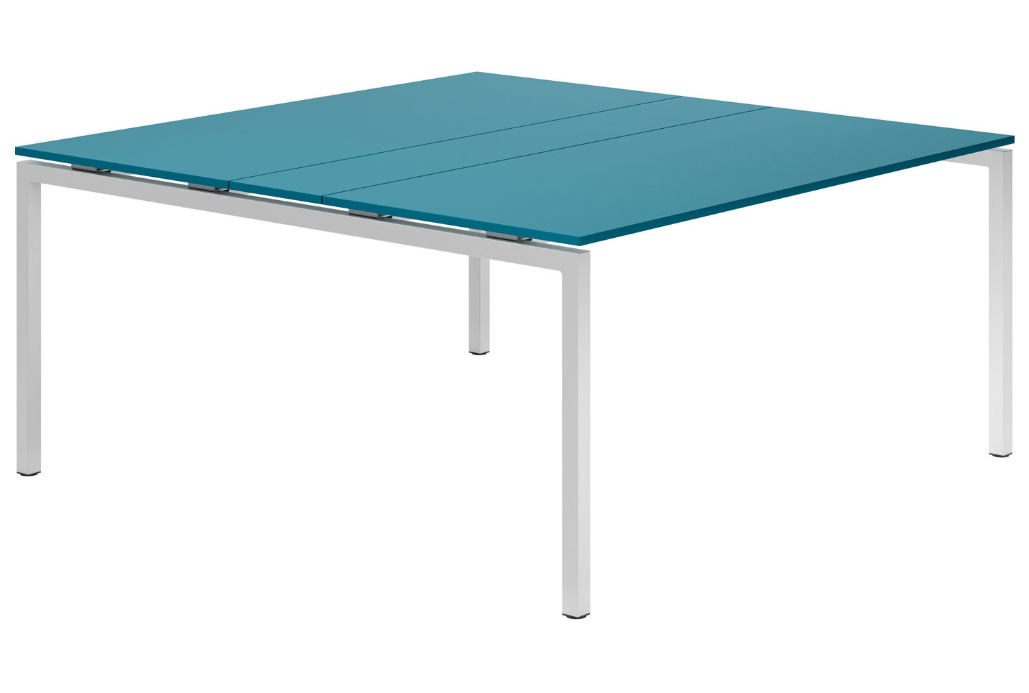 Campos H-Leg 6-8 Person Meeting Table (Light Blue)