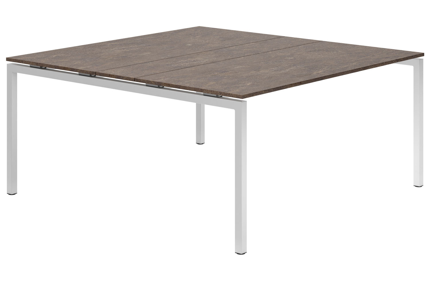 Lasso H-Leg 6-8 Person Meeting Table (Pitted Steel)