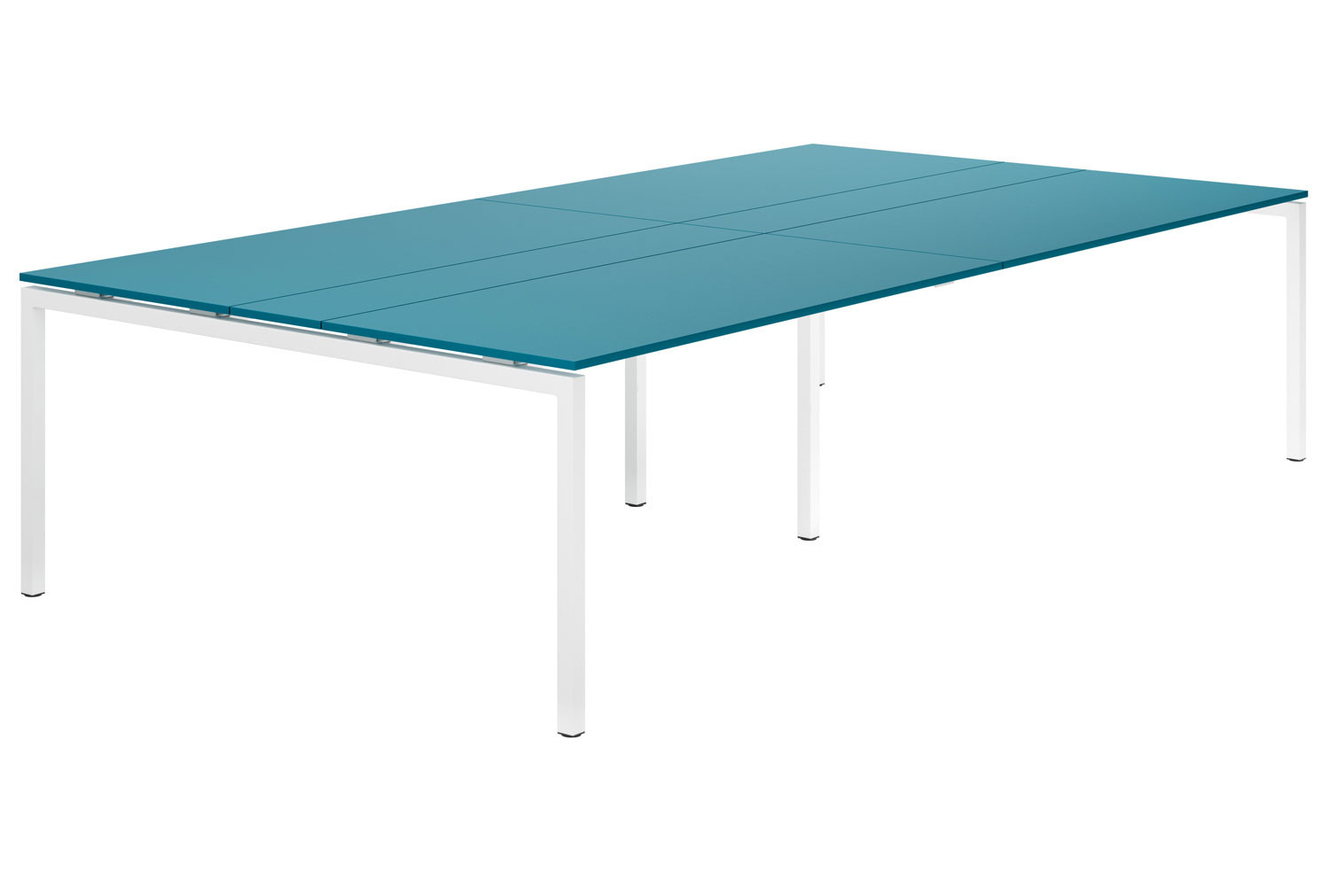 Campos H-Leg 10-12 Person Meeting Table (Light Blue)