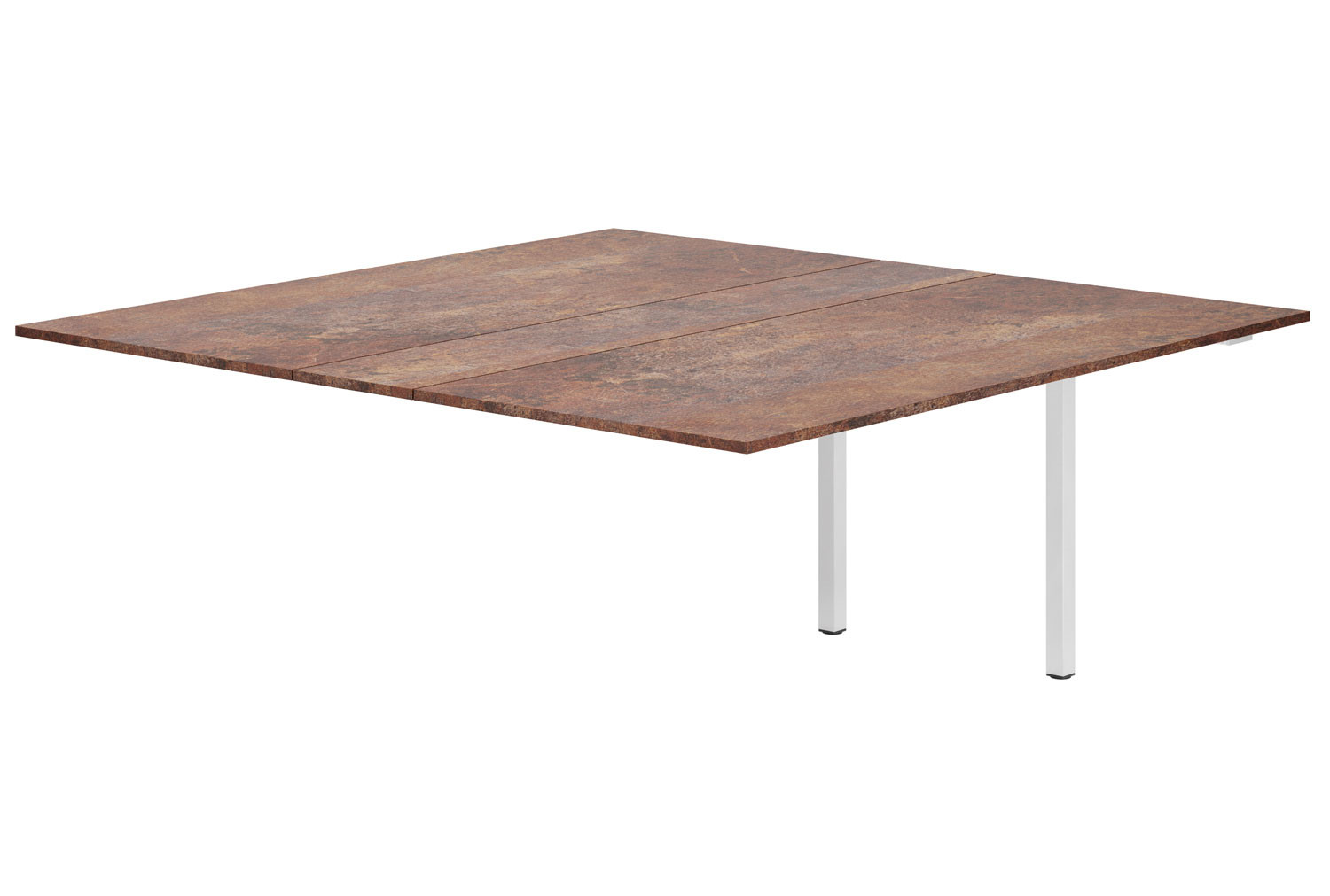 Lasso Meeting Table Add On Unit (Rusted Steel)