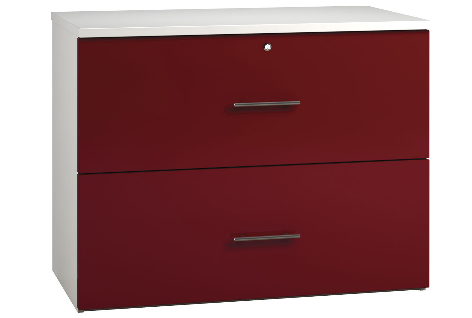 Illusion Side Filing Cabinet Burgundy Gloss