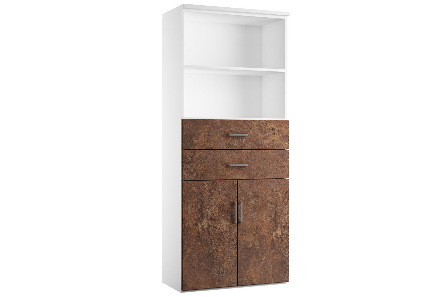 Delgado Cupboard Combination 3 (Rusted Steel)