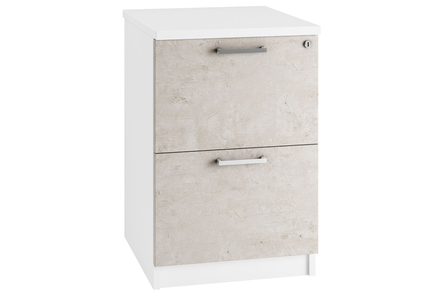 Lasso 2 Drawer Filing Cabinet (Concrete)