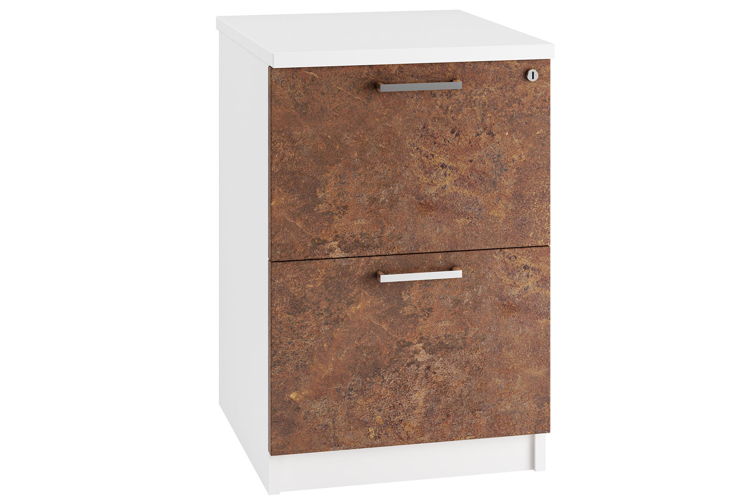 Lasso 2 Drawer Filing Cabinet (Rusted Steel)