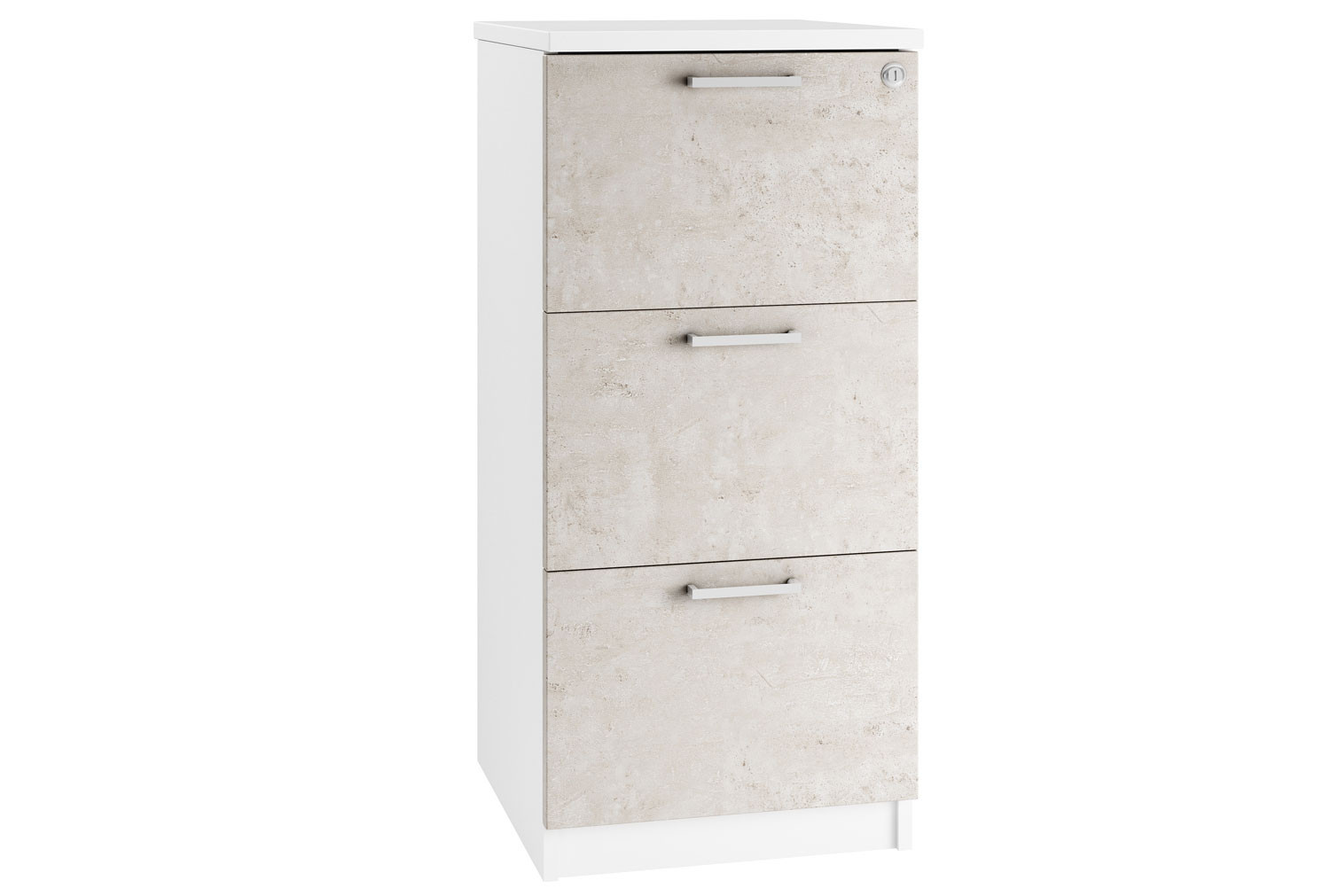 Lasso 3 Drawer Filing Cabinet (Concrete)
