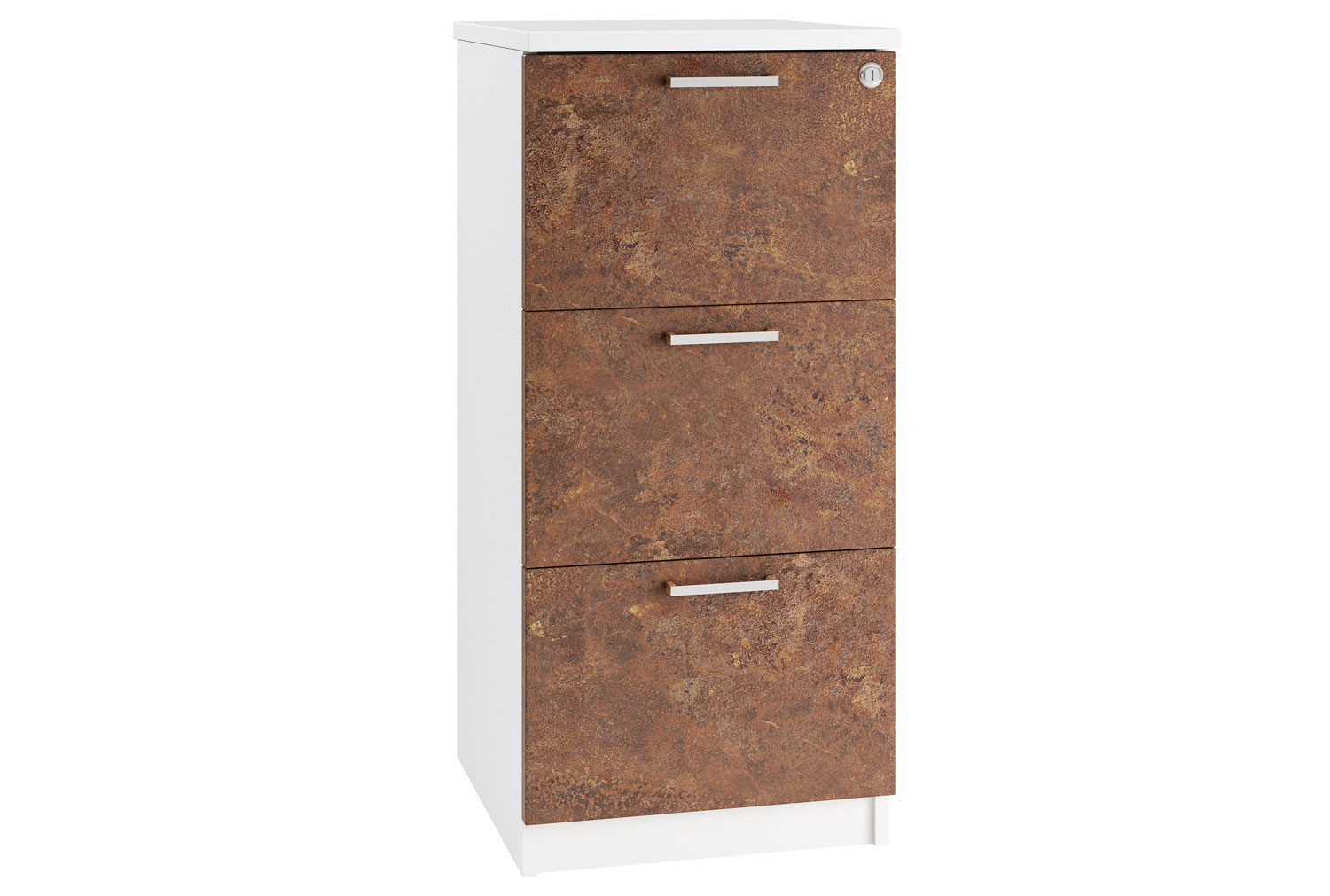 Delgado 3 Drawer Filing Cabinet (Rusted Steel)