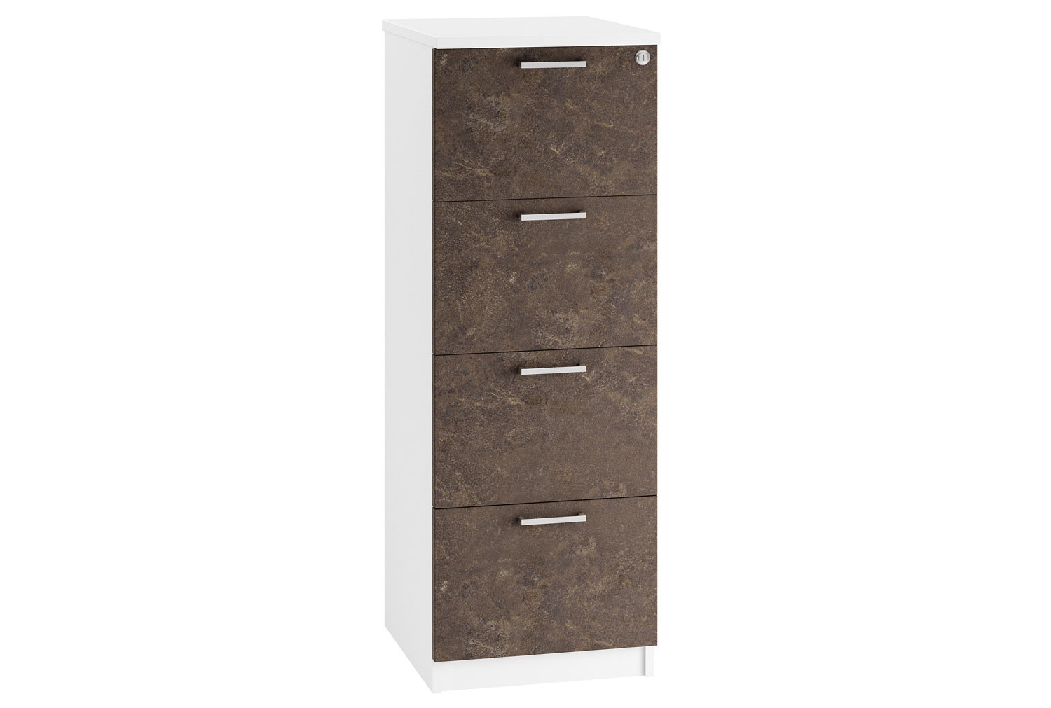 Lasso 4 Drawer Filing Cabinet (Pitted Steel)