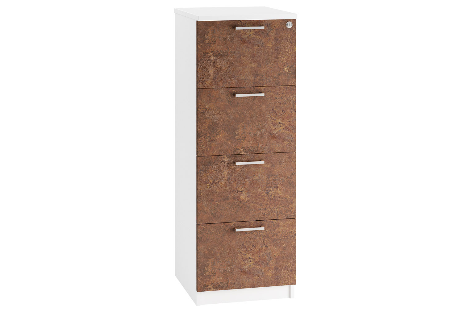 Lasso 4 Drawer Filing Cabinet (Rusted Steel)