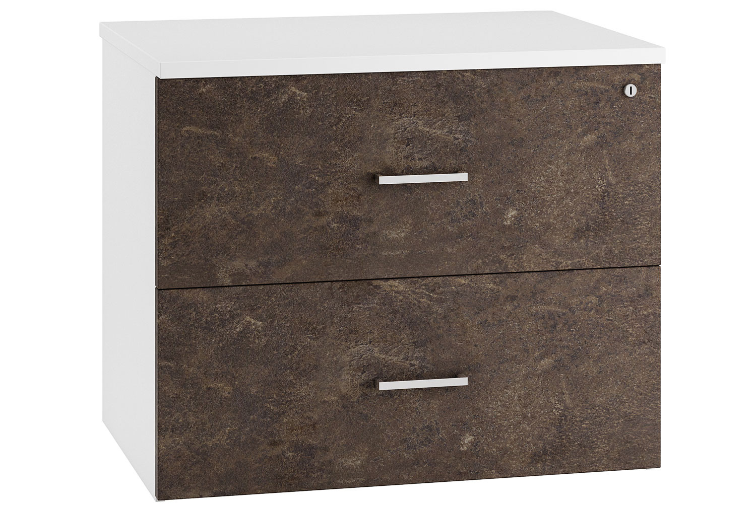 Delgado Side Filing Cabinet (Pitted Steel)