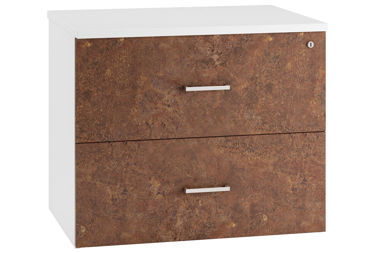Next-Day Delgado Side Filing Cabinet (Rusted Steel)