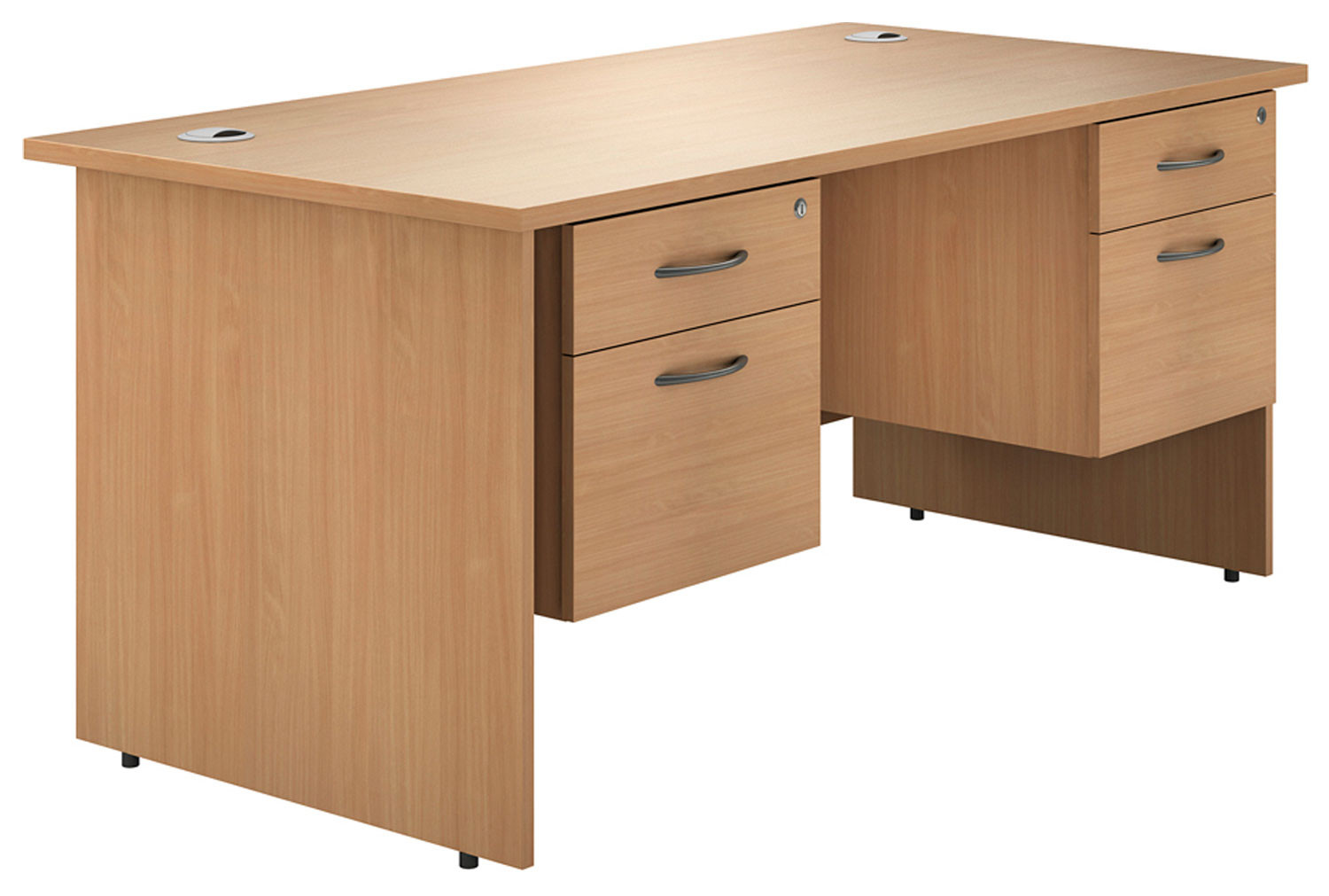 Astrada Panel End Double Pedestal Desk (Beech)