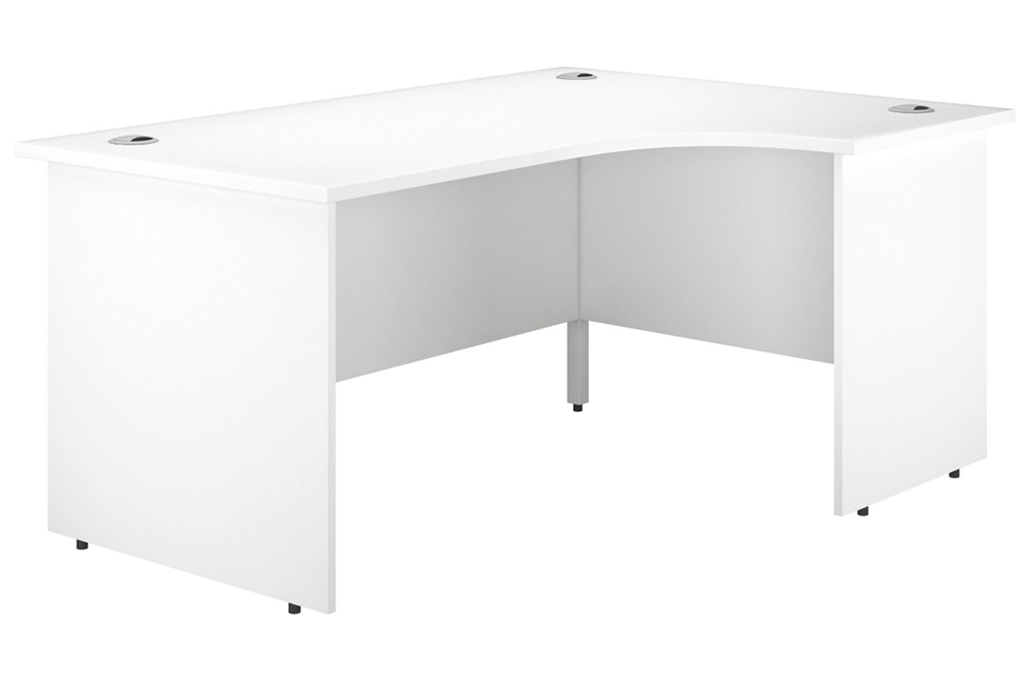 Illusion Panel End Right Hand Ergonomic Desk White