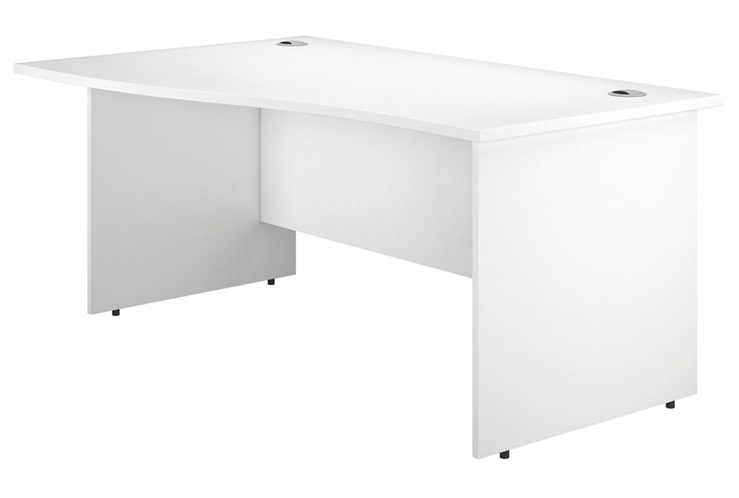 Astrada Panel End Left Hand Wave Desk (White)