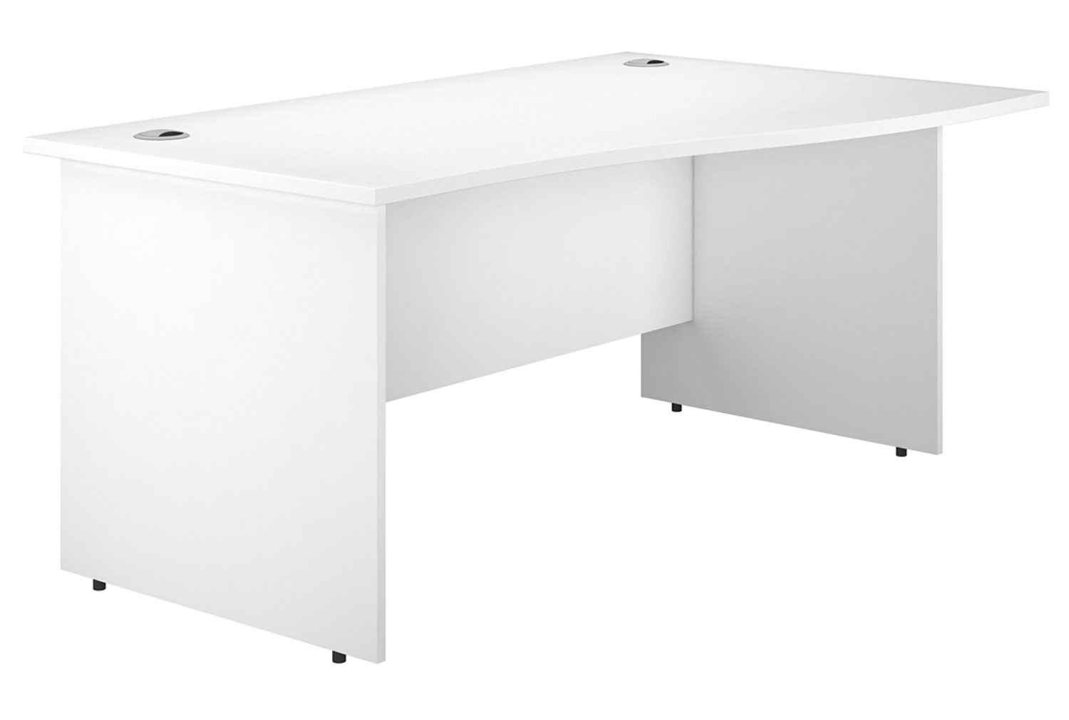 Illusion Panel End Right Hand Wave Desk White