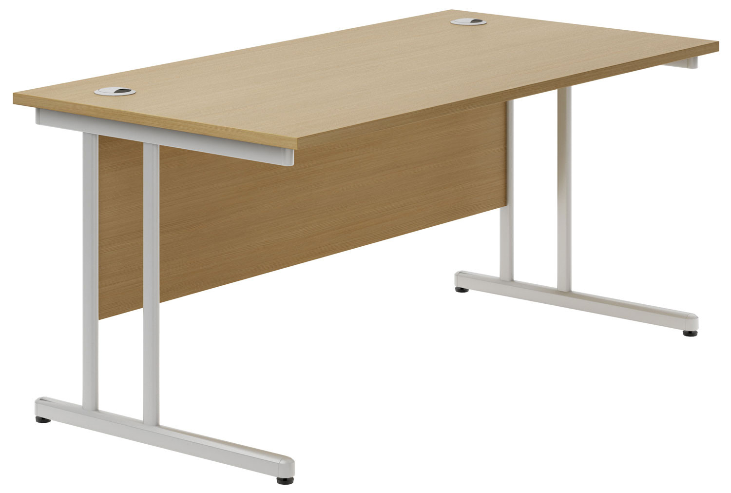 Astrada C-Leg Rectangular Desk (Oak)