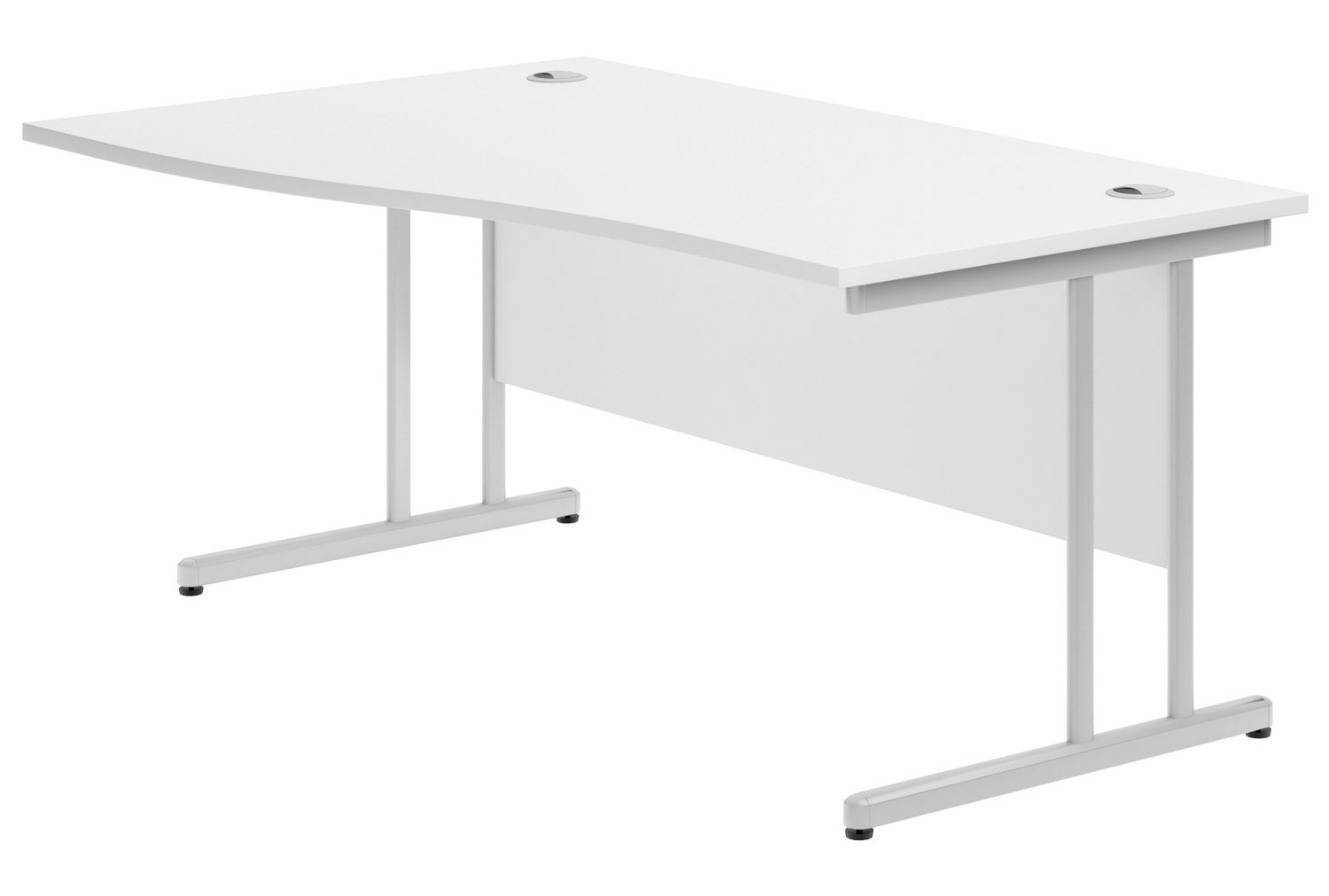 Astrada C-Leg Left Hand Wave Desk (White)