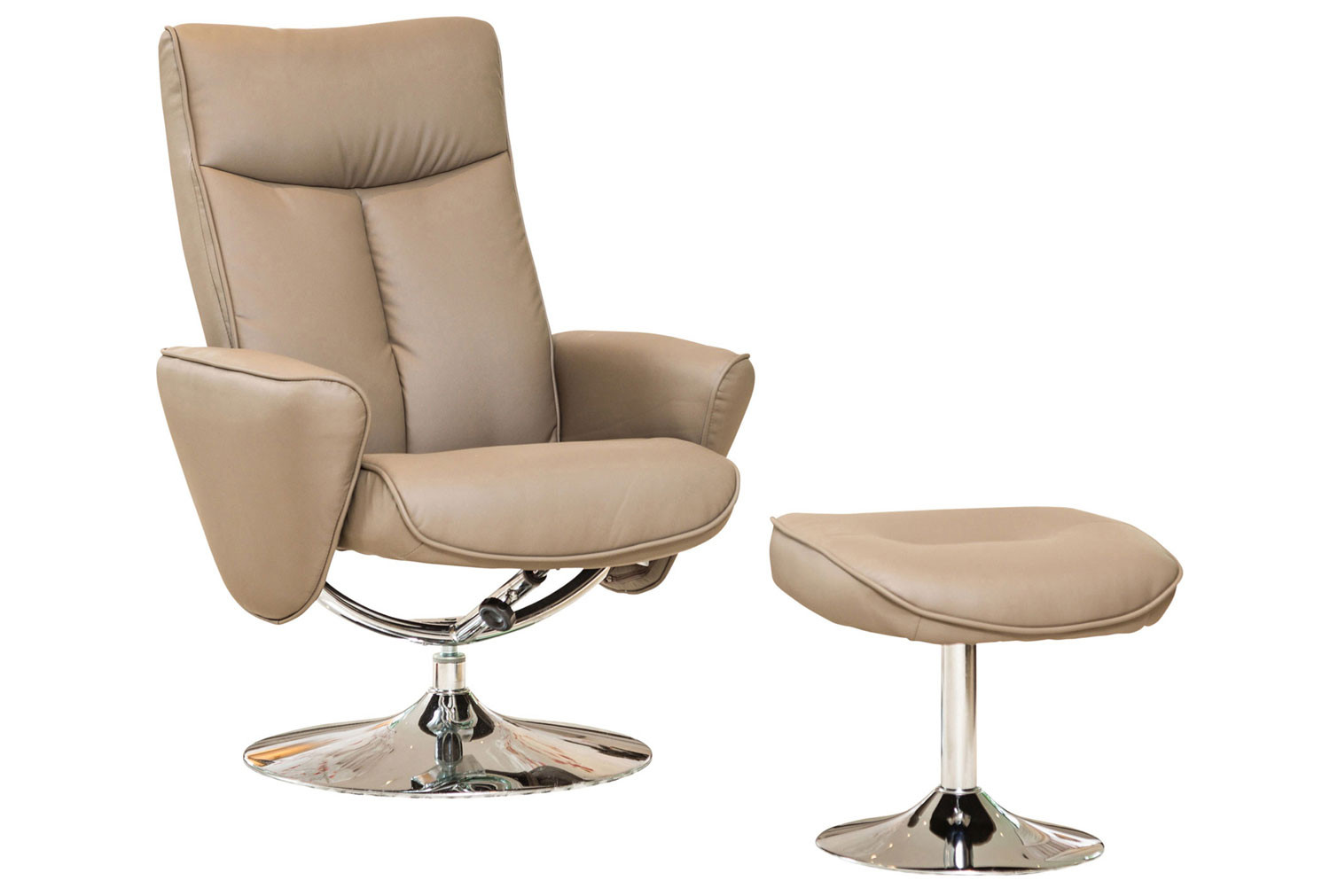 Picture of: Wagner Swivel Recliner Chair With Footstool Furniture At Work