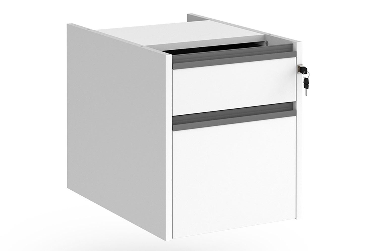 Value Line Classic+ Fixed 2 Drawer Pedestal (Graphite Slats)