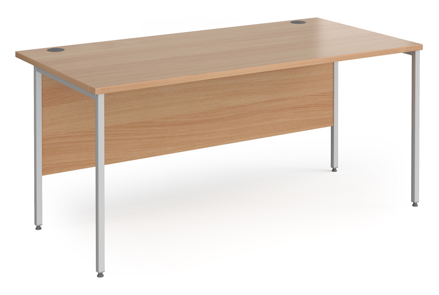 Value Line Classic+ Rectangular H-Leg Desk (Silver Leg)