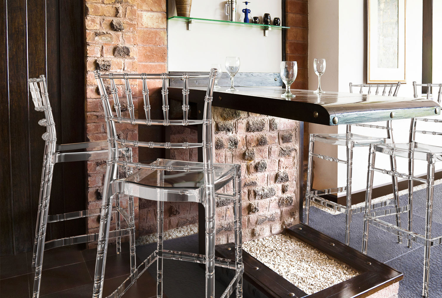 Pack Of 4 Celosia Wedding Bar Stools